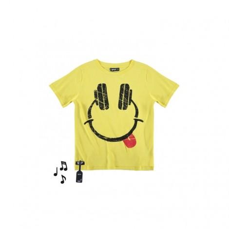 Camiseta infantil sonido M/C HEADPHONES amarilla