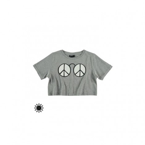 Camiseta niña solar M/C PEACE gris