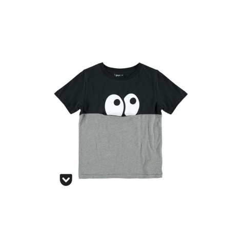 Camiseta infantil happy pocket M/C EYES gris