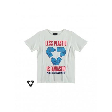 Camiseta infantil M/C con bolsa LESS PLASTIC
