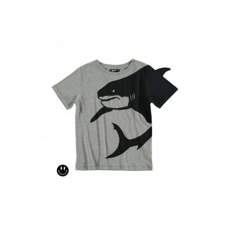 Camiseta infantil 3D SHARK FIN M/C gris