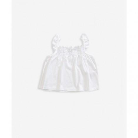 Camiseta blusa tirantes niña algodón orgánico blanca