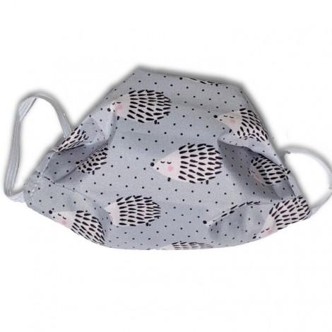Mascarilla higiénica textil erizo gris