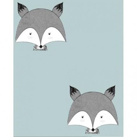 Mascarilla higiénica textil foxy azul