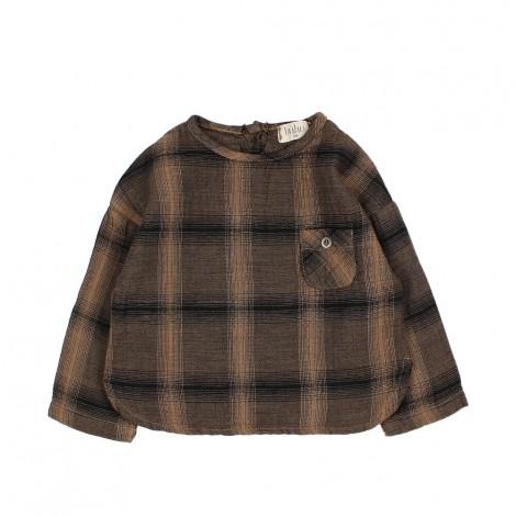 Camisa bebé TEO highlands check en NUIT