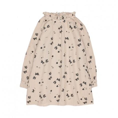 Vestido niña COLETTE floral lurex en SAND