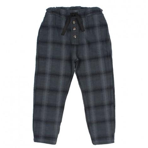 Pantalón niño OLIVER highlands check en NUIT