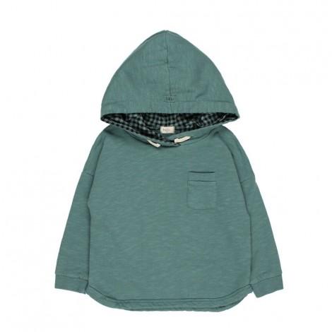Sudadera HECTOR capucha infantil en PINE GREEN