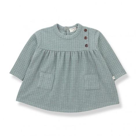 Vestido bolsillos CAZORLA de bebé en SALVIA