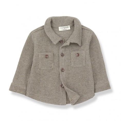 Camisa M/L cuadraditos CIVETTA de bebé en BEIGE