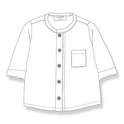 Camisa mao CUSTO de bebé en CRUDO