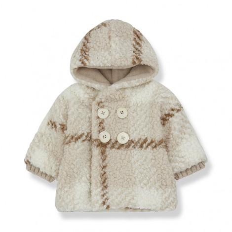 Abrigo capucha EUGENE de bebé en CRUDO
