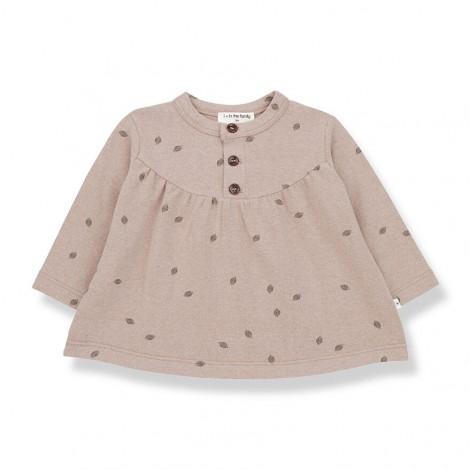 Blusa manga larga con hojas GREDOS de bebé en ROSA