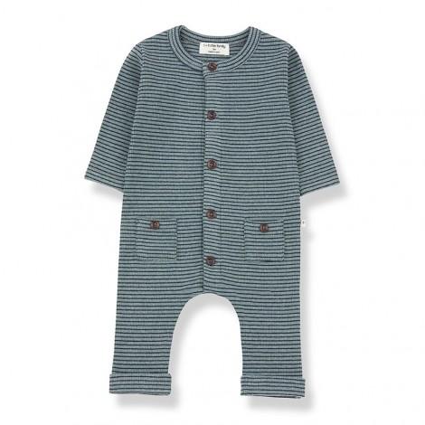 Pelele botones HUDSON de bebé en SALVIA-MARINO