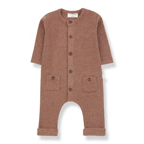 Pelele botones HUDSON de bebé en TOFE-TIERRA