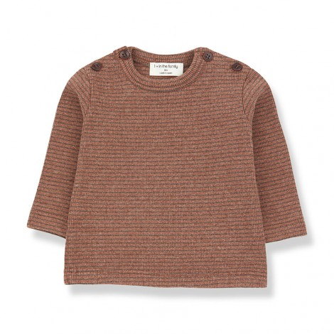 Camiseta M/L rayas JASPER de bebé en TOFE-TIERRA