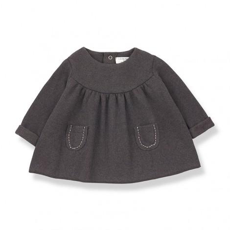 Vestido bolsillos MARIOLA de bebé en TIERRA