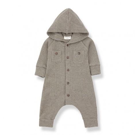 Pelele con capucha MARMOLADA de bebé en BEIGE