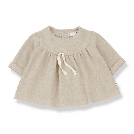 Vestido MIRELLE de bebé en CREMA