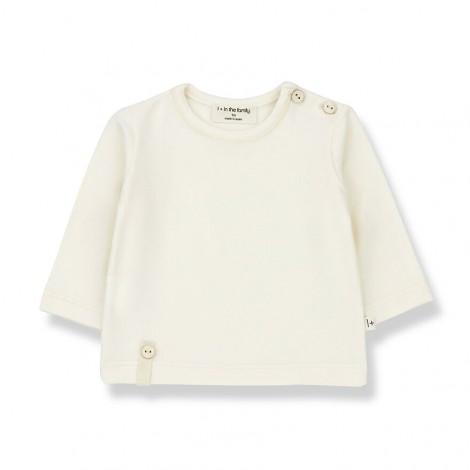 Camiseta manga larga NOELLE de bebé en CRUDO