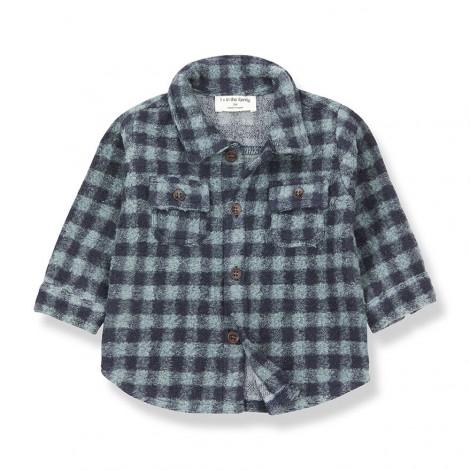 Camisa gruesa cuadros PAL de bebé en SALVIA-MARINO
