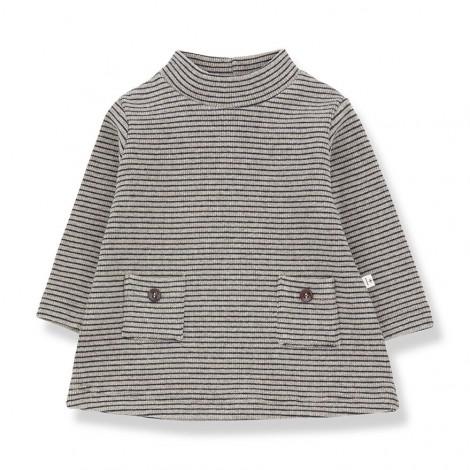 Vestido botones a rayas WILLMORE de bebé en MARINO
