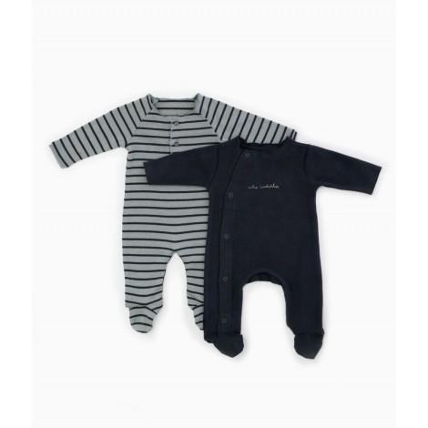 Conjunto 2 Peleles bebé rayas en RASP/R250G
