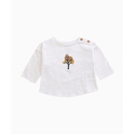 Camiseta bebé árbol manga larga en RAW
