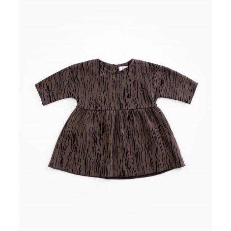 Vestido bebé manga larga en WALNUT