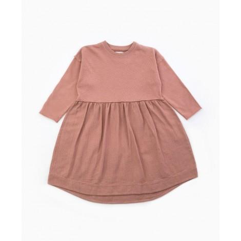 Vestido niña con mix de tejidos en JATOBÁ
