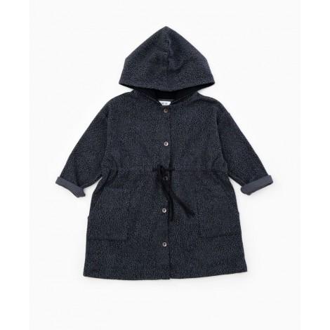Vestido niña abotonado capucha en RASP
