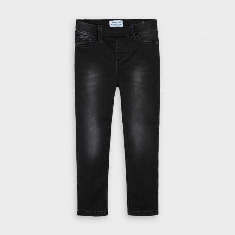 Pantalon tejano niña tipo legging color Negro