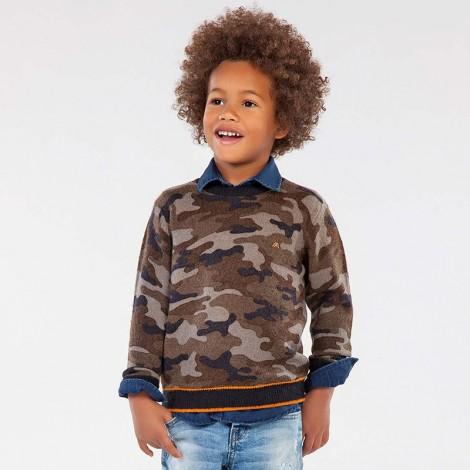 Jersey camuflaje niño color Marino