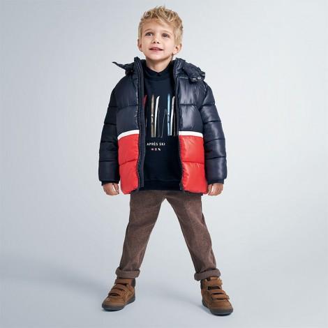 Anorak bicolor niño tipo chaquetón color Noche