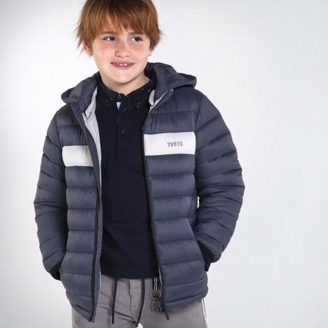 Chaquetón chico acolchado ligero color Grey