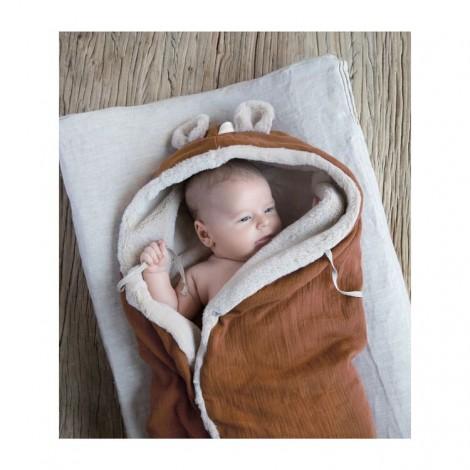 Manta bebé polar TEDDY CARAMEL de Babyshower