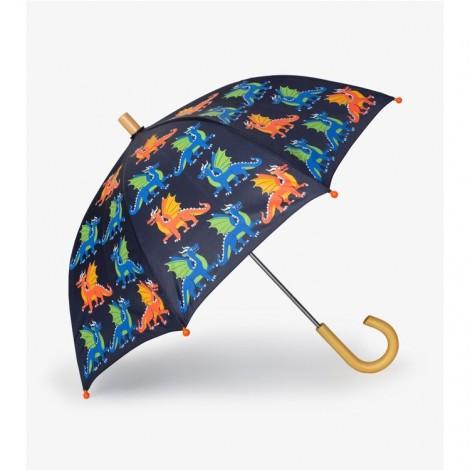 Paraguas niño azul DRAGONES colorido