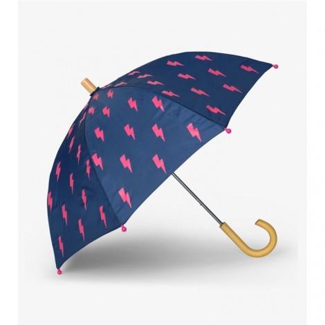 Paraguas niña azul RAYOS fucsia