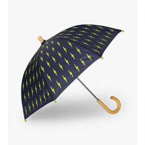 Paraguas niño azul RAYOS verde fluorescente
