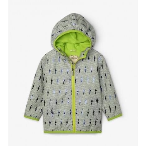 Parka impermeable microfibra niño RAYOS en gris