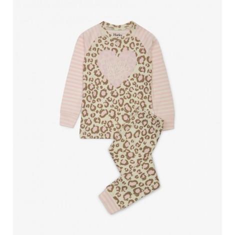 Pijama niña en suave animal print 100% organic