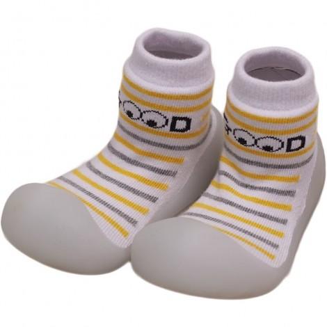 Zapato Chameleon STRIPE YELLOW gateo y caminar bebé