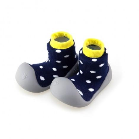 Zapato Chameleon POLKA NAVY gateo y caminar bebé
