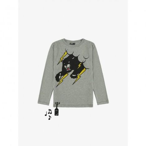 Camiseta sonido PANTHER M/L gris para niño