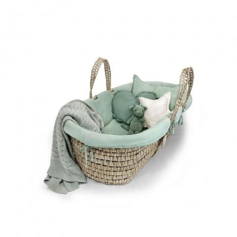 Vestidura cesto capazo recién nacido mint color