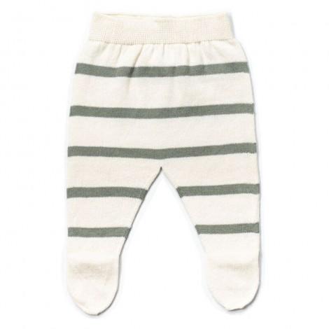 Pantalón bebé polaina LUC rayas MINT