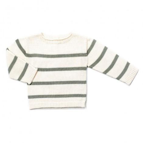 Jersey bebé tricot EDRICK crema rayas MINT