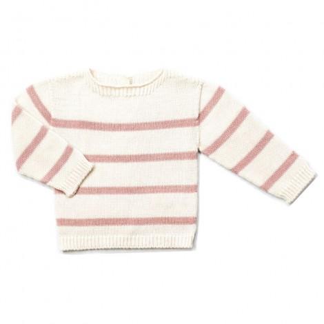 Jersey bebé tricot EDRICK crema rayas PALE ROSE