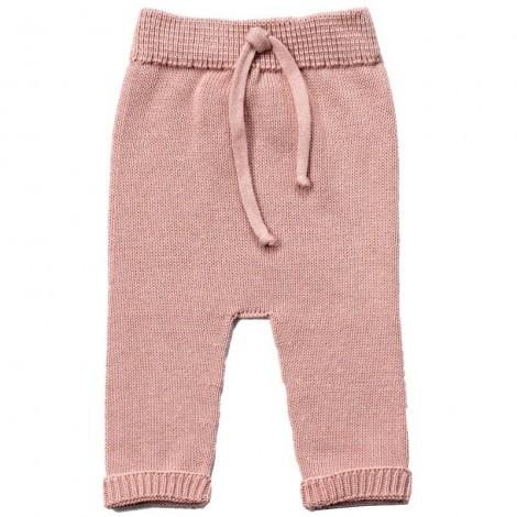 Pantalón bebé WILL PALE ROSE tricot algodón
