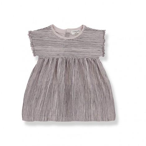 Vestido rallitas ARLET de bebé en ROSA